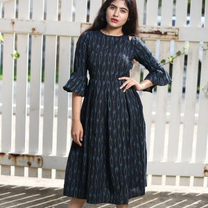 Dark Blue Color Cotton Kurti