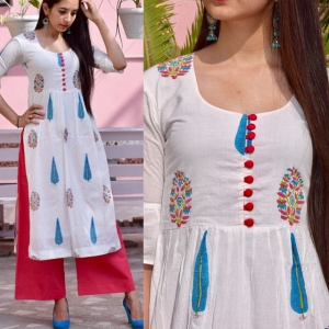 White Color Office Wear Digital Print Salwar Suit