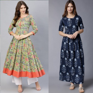 Combo Of 2 Heavy Rayon Kurtis