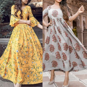 Pack Of 2 Heavy Rayon Designer Kurtis