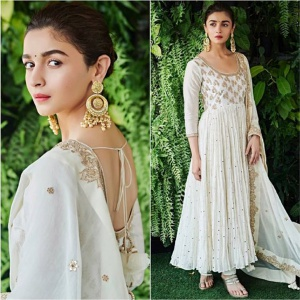 Cream Color Embroidered Suit