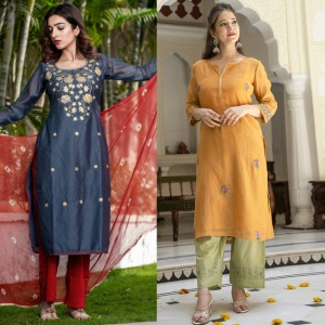Pack Of 2 Straight Cotton Dresses