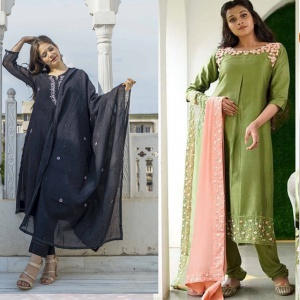 Combo Of 2 Wedding Wear Embroidered Suits