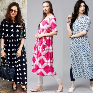 Pack Of 3 Fancy Wear Rayon Kurtis