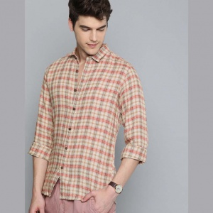 Men Multicoloured Regular Fit Checked Casual Shirt