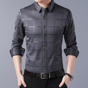 Grey Color Office Wear Shirt