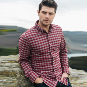Red And White Color Checks Print Shirt