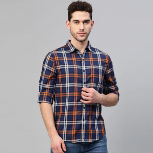 Multi Color Fit Striped Casual Shirt