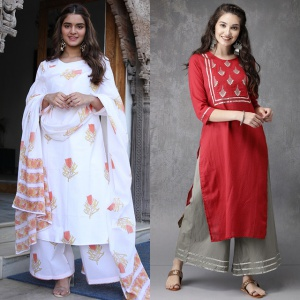 Combo Of 2 Embroidered Dresses